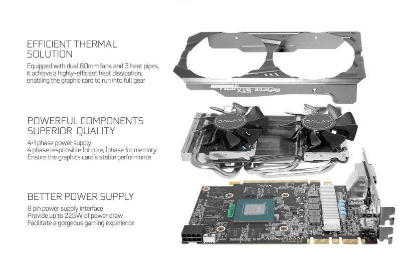 GALAX GeForce GTX 1070 OC Mini cooling