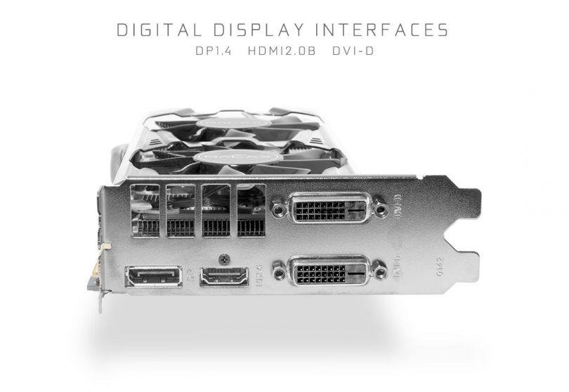 GALAX GeForce GTX 1070 OC Mini connectors