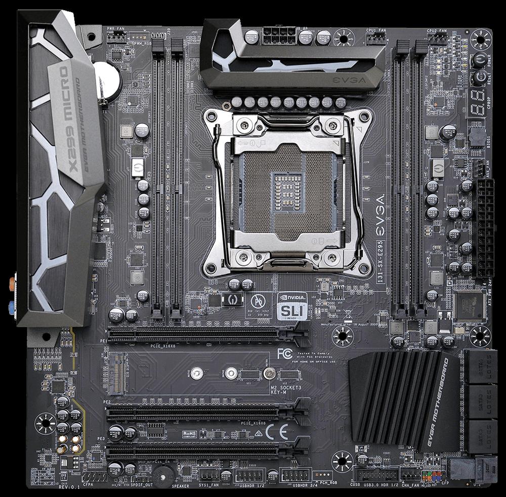 EVGA showcases X299 mATX motherboard
