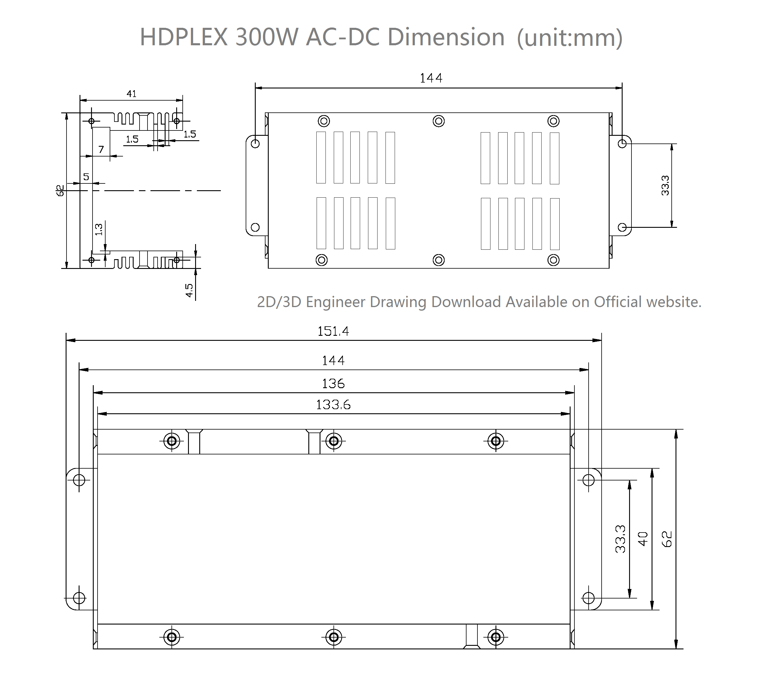 Hdplex Ac Dc 160w And 300w A Powerful Solution Small Form Besides Inverter Circuit Diagram Also Converter Mounting Dimensions