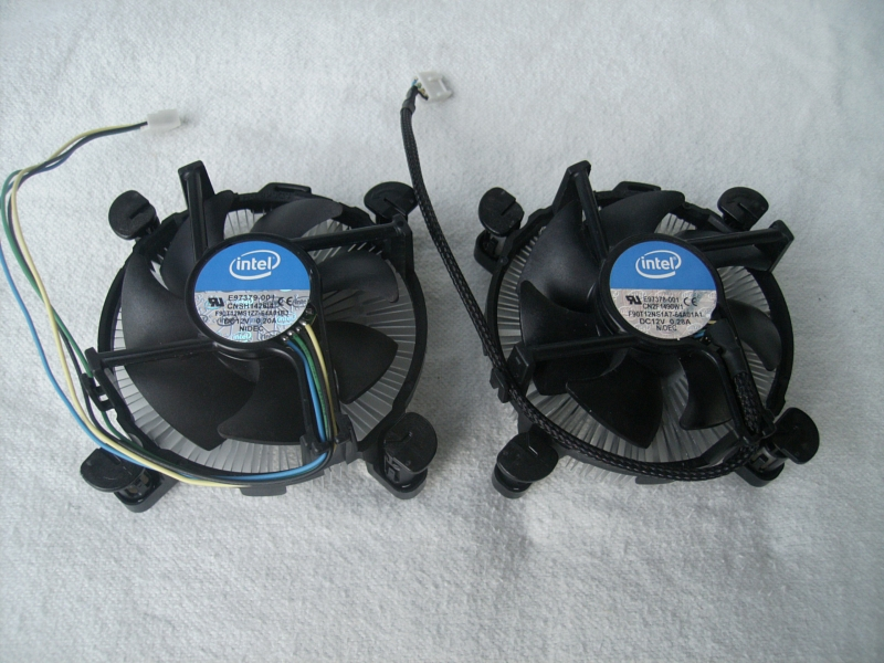 Low end cooler on left, higher end on right