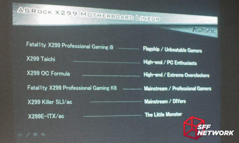 ASRock X299E-ITX/ac lineup