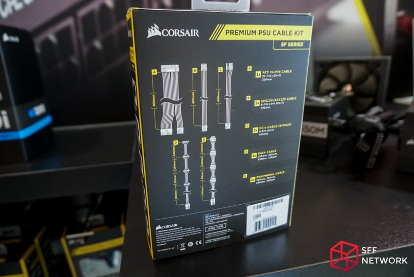 Corsair SF-series premium PSU cable kit cable lengths