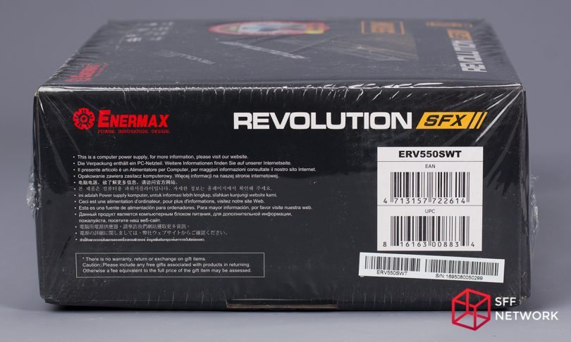 Enermax Revolution SFX 550W ERV550SWT box left