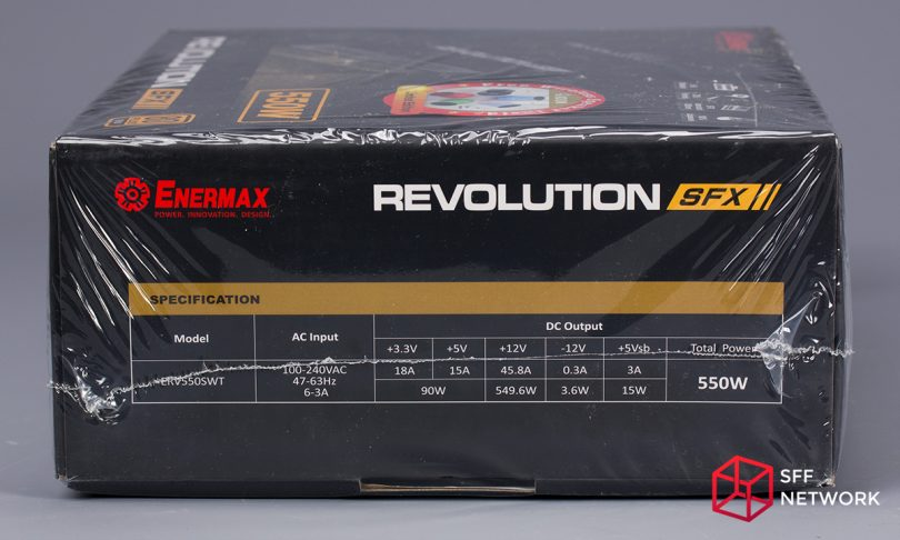 Enermax Revolution SFX 550W ERV550SWT box right