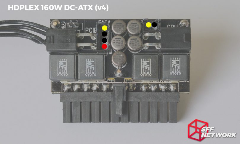 HDPLEX 160W DC-ATX direct-plug v4 SATA pinout