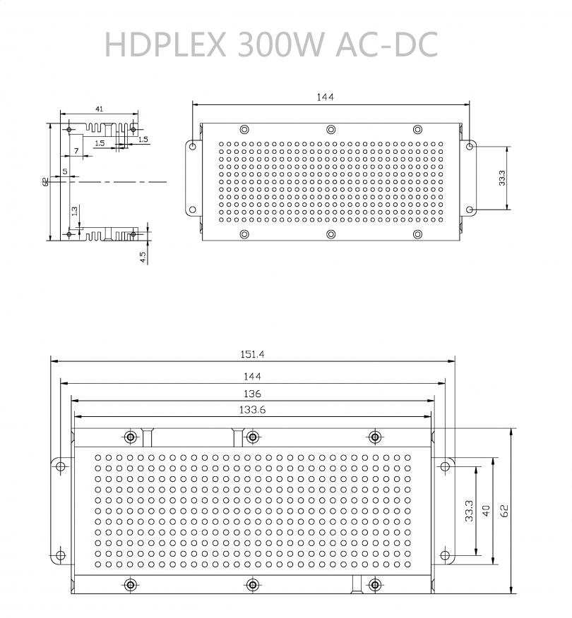 HDPLEX 300W AC-DC