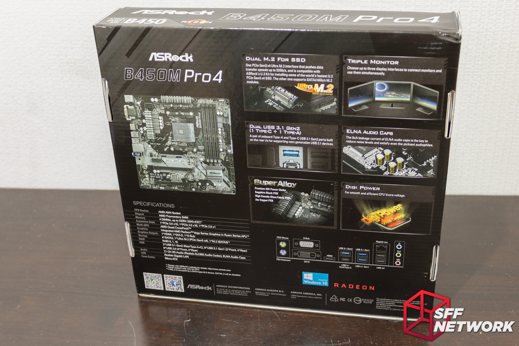 ASRock's B450M Pro4 – M-ATX, Fully Featured – SFF Network | SFF Network