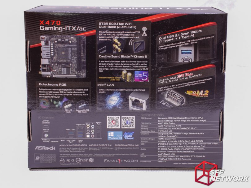 ASRock's Fatal1ty X470-ITX/ac - Back to the Future - Small Form