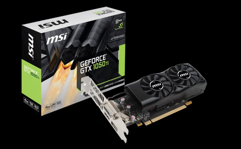 Image result for MSI NVIDIA GTX 1050 TI 4GT LP