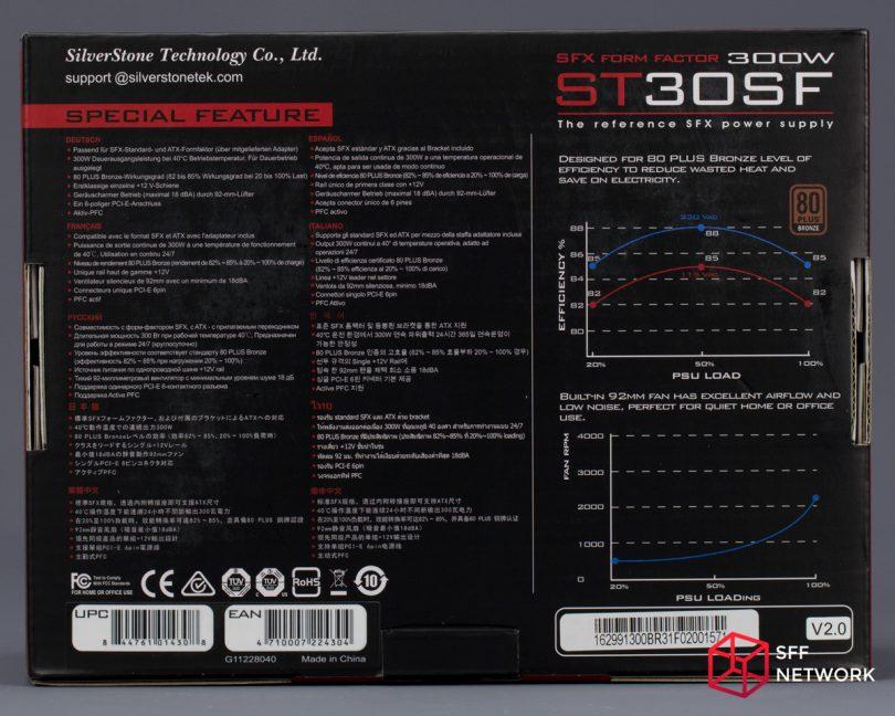 SilverStone ST30SF V2 box back