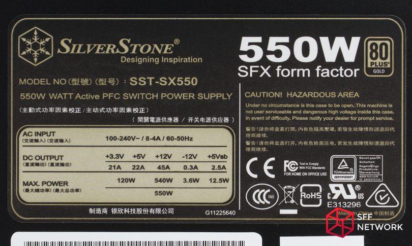 SilverStone SX550 label
