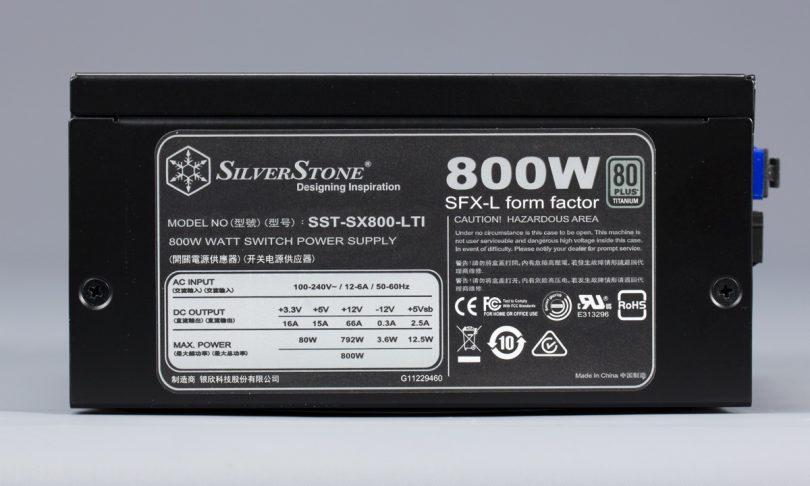 SilverStone SX800-LTI label
