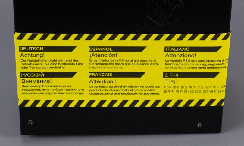 SilverStone SX800-LTI warning label back