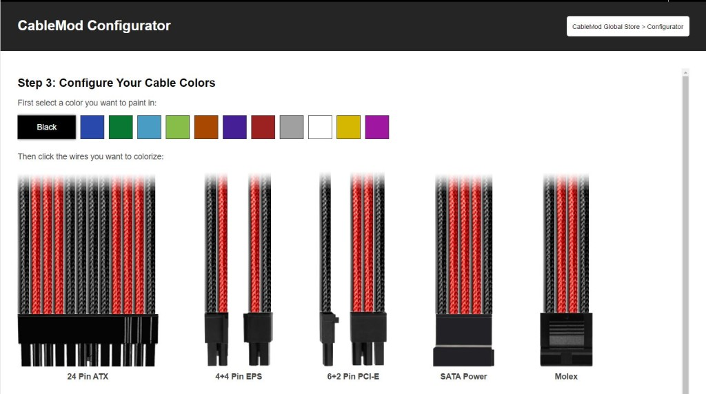 Cablemod Launches Configurator Design Your Own Custom