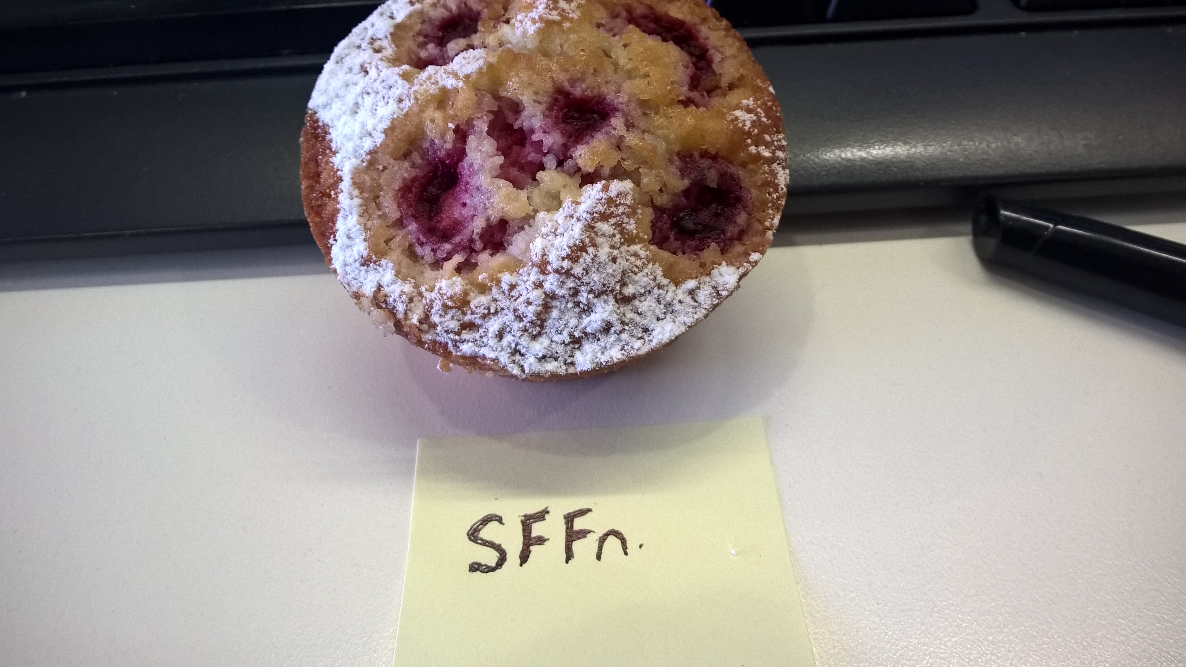 Oh come on, John, what is this? A birthday muffin? Is this how folks in New Zealand celebrate birthdays?!?